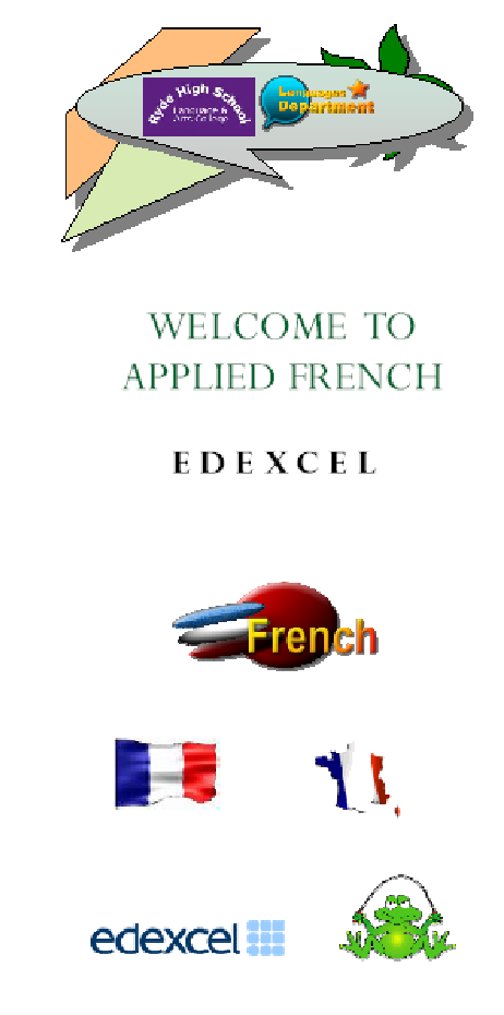 brochure promting a special GCSE french course