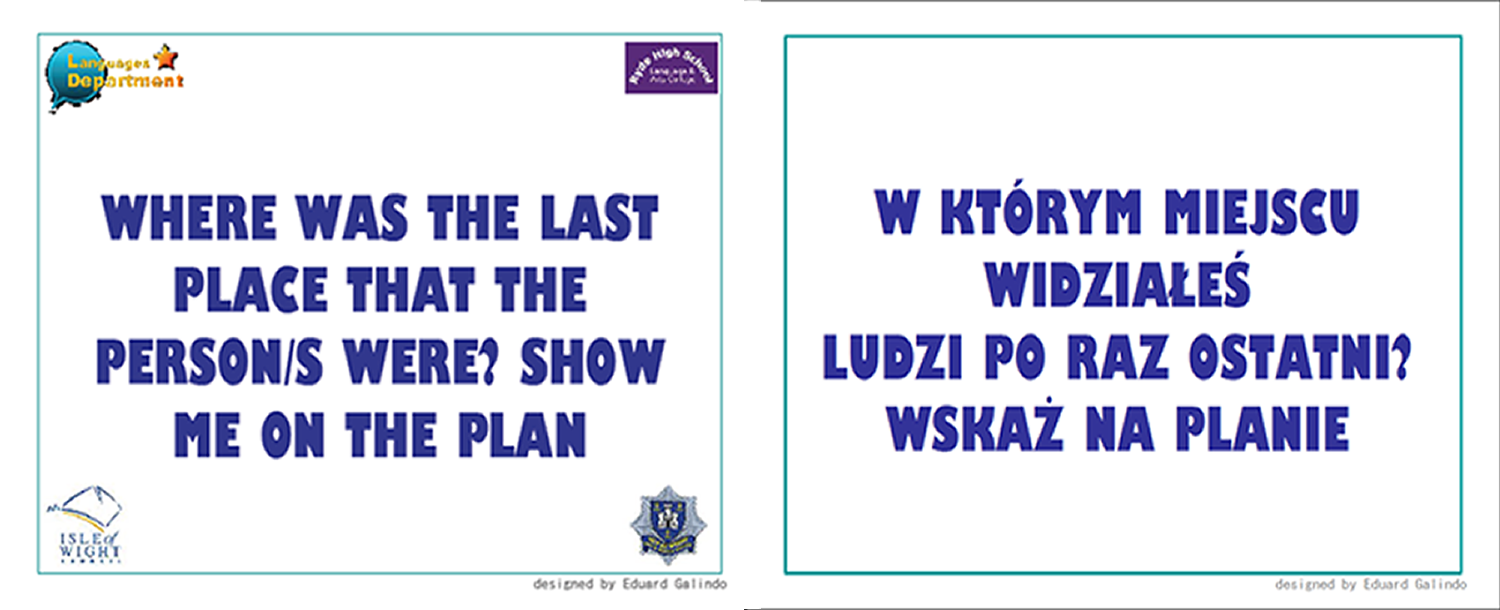 Healthy and Safety flashcards for fire brigade in polish