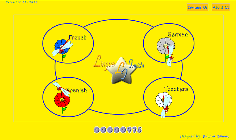 language learning project screenshoot